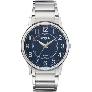 Acqua by Timex Men's Silver-Tone/Blue Watch, Stainless Steel Bracelet