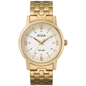 Acqua by Timex Men's Gold-Tone/Cream Watch, Stainless Steel Bracelet