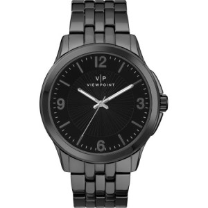Viewpoint by Timex Men's 43mm Black Dial Watch, Black Bracelet