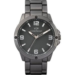 Viewpoint by Timex Men's 43mm Gray Dial Watch, Black Bracelet
