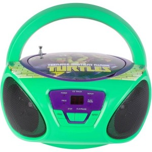 Sakar Nickelodeon 57065-tru Teenage Mutant Ninja Turtles CD Boombox