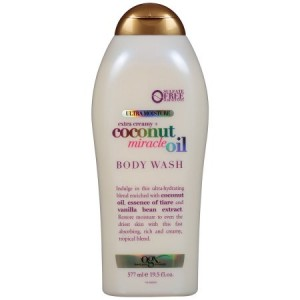 OGX Ultra Moisture Body Wash Extra Creamy + Coconut Miracle Oil, 19.5 fl oz