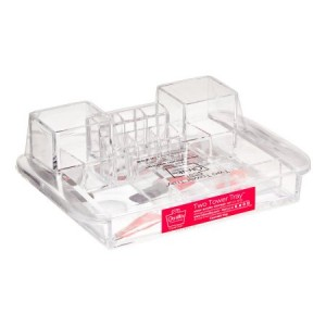 Caboodles Two Tower Tray Acrylic Countertop Organizer