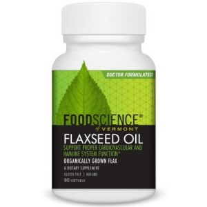 FoodScience of Vermont Flaxseed Oil, 90ct