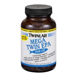 Twinlab Mega Twin EPA Fish Oil Dietary Supplement Softgels - 60ct