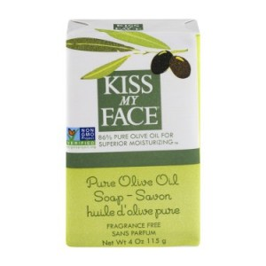 Kiss My Face Pure Olive Oil Soap Bars Fragrance Free, 4.0 OZ