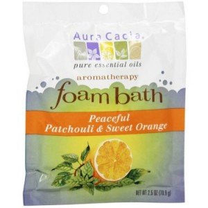 Aura Cacia Peaceful Patchouli & Sweet Orange Foam Bath , 2.5 Oz, 6 Pk