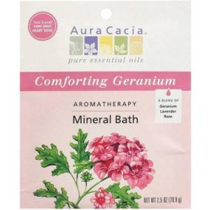 Aura Cacia Bath Mineral Geranium Comforting, 2.5 OZ (Pack of 6)
