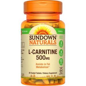 Sundown Naturals L-Carnitine 500mg, 30 Ct