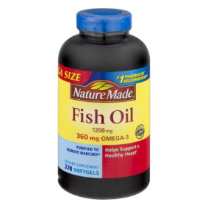 Nature Made Fish Oil Softgels Value Size, 1200mg, 270ct