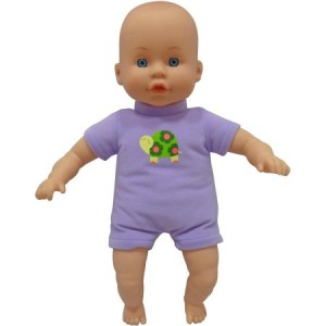 My Sweet Love 13-inch Soft Baby Doll, Purple Outfit