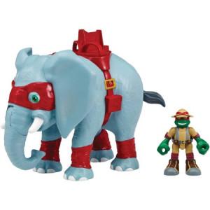 Teenage Mutant Ninja Turtles Half Shell Heroes Safari Elephant with Raphael Figure