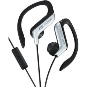 JVC HAEBR80S In-Ear Sports Headphones with Microphone & Remote (Silver)