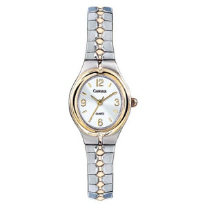 Carriage by Timex Women's Cassandra Watch, Two-Tone Stainless Steel Expansion Band
