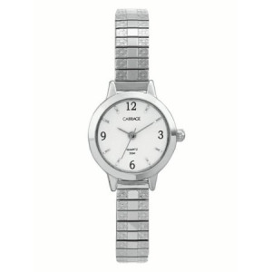 Carriage by Timex Women's Corinne Watch, Silver-Tone Stainless Steel Expansion Band