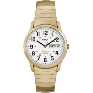 Timex Men's Easy Reader Watch, Gold-Tone Stainless Steel Expansion Band