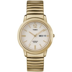 Timex Men's Chambers Street Watch, Gold-Tone Stainless Steel Expansion Band