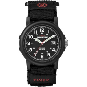 Timex Men's Expedition Camper All Black Watch, Fast Wrap Strap