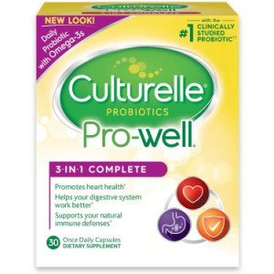 Culturelle Probiotics Pro-Well 3-in-1 Complete Dietary Supplement Capsules - 30 CT