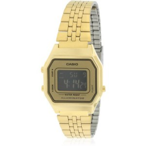 Casio Gold- Tone Digital Retro Ladies' Watch, LA680WGA-9B
