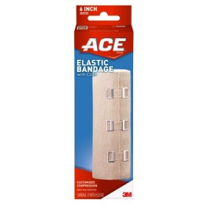 ACE Brand Elastic Bandage w/ clips, 6 in