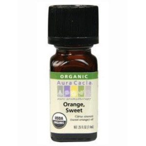 Aura Cacia Organic Essential Oil, Sweet Orange, 0.25 Fl Oz
