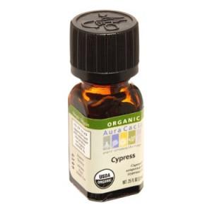 Aura Cacia Organic Essential Oil, Cypress, 0.25 Fl Oz