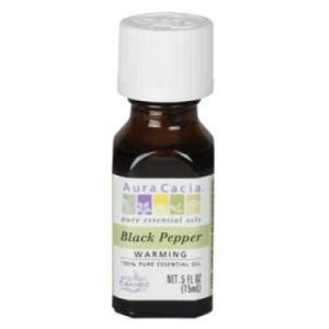 Aura Cacia Essential Oil, Black Pepper, 0.5 Fl Fl Oz