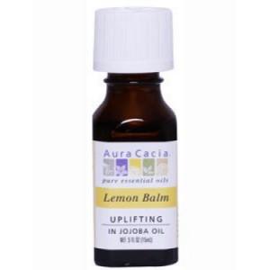Aura Cacia Uplifting Jojoba Oil, Lemon Balm, 0.5 Fl Oz