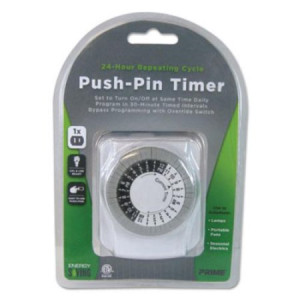 Primewire 1-Outlet Push Pin Timer