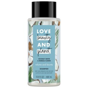 Love Beauty And Planet Volume and Bounty Shampoo Coconut Water & Mimosa Flower 13.5 oz
