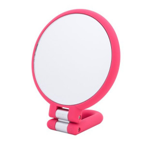Danielle Soft Touch Hand Held 15x Mirror, Pink