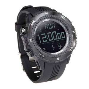 Pyle Multifunct Active Sports Watch with Altimeter, Barometer, Chronograph, Compass, Count-Down Timer, Measuring & Weather Forecast Modes (Black)