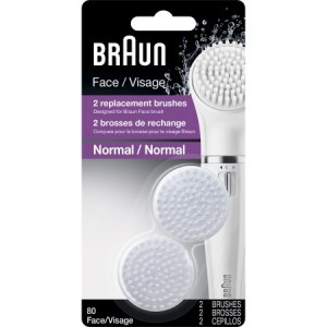 Braun Face 80 - Pack of 2 Brush Refills for Braun Mini-Facial Epilator and Facial Cleansing Brush