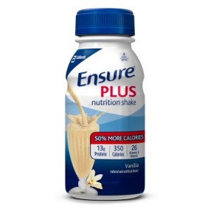 Ensure Plus Nutrition Shake Vanilla with 13 grams of protein, Meal Replacement Shakes, 8 Fl oz Bottles, 24 Ct