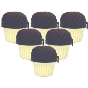 Range Kleen GO GO Cupcase Cupcake Holder, Chocolate, 6-Pack