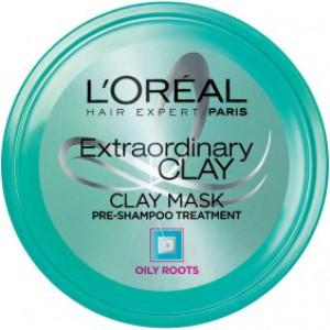 L'Oreal Paris Hair Expert Extraordinary Clay Pre-Shampoo Mask, 5.1 Fl Oz