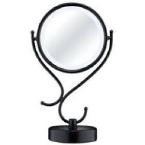 Conair Fluorescent Lighting Black Double-Sided Mirror