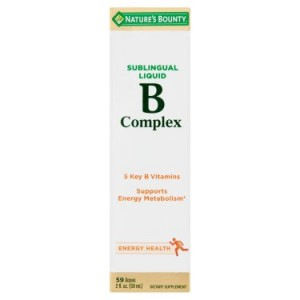 Nature's Bounty B-Complex, 59 doses Sublingual Liquid, 2 Fl Oz