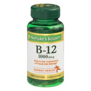 Nature's Bounty B-12, 1000mcg Coated Tablets, 200ct