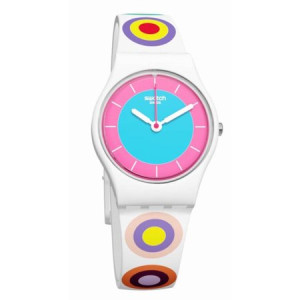 Swatch GIRLING Silicone Unisex Watch LW153
