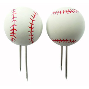 Mr. Bar-B-Q Baseball Shape Corn Holders, Set of 4