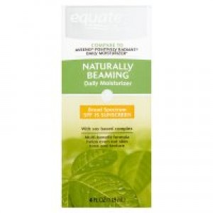 Equate Beauty Naturally Beaming Moisturizer Sunscreen Broad Spectrum, SPF 15, 4 Fl Oz