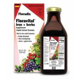 Salus-Haus Floravital Iron plus Herbs 8.5 Oz