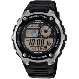 Casio Men's World Time Watch, Black Resin Strap