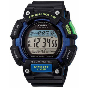 Casio Men's Extra-Large Solar Runner Watch, Black/Blue