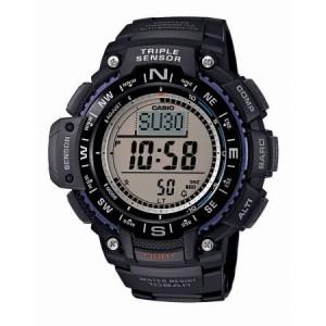 Casio Men's Triple Sensor Compass Watch, Black Resin Strap