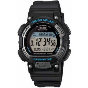 Casio Women's Solar Runner Watch, Black/Blue