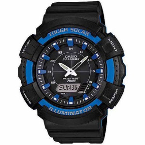 Casio Men's Solar-Powered Combination Watch, Blue Accents
