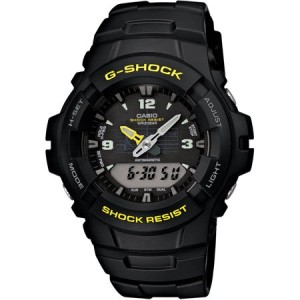 Casio Men's G-Shock Analog-Digital Watch, Black Resin Strap